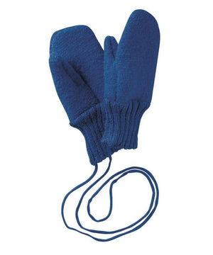 Disana Boiled Wool Gloves Navy