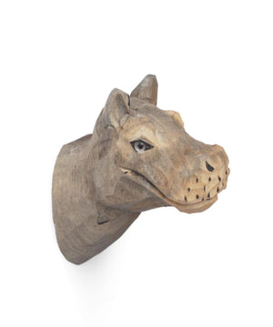 Ferm Living Animal Hand-Carved Hook Nijlpaard