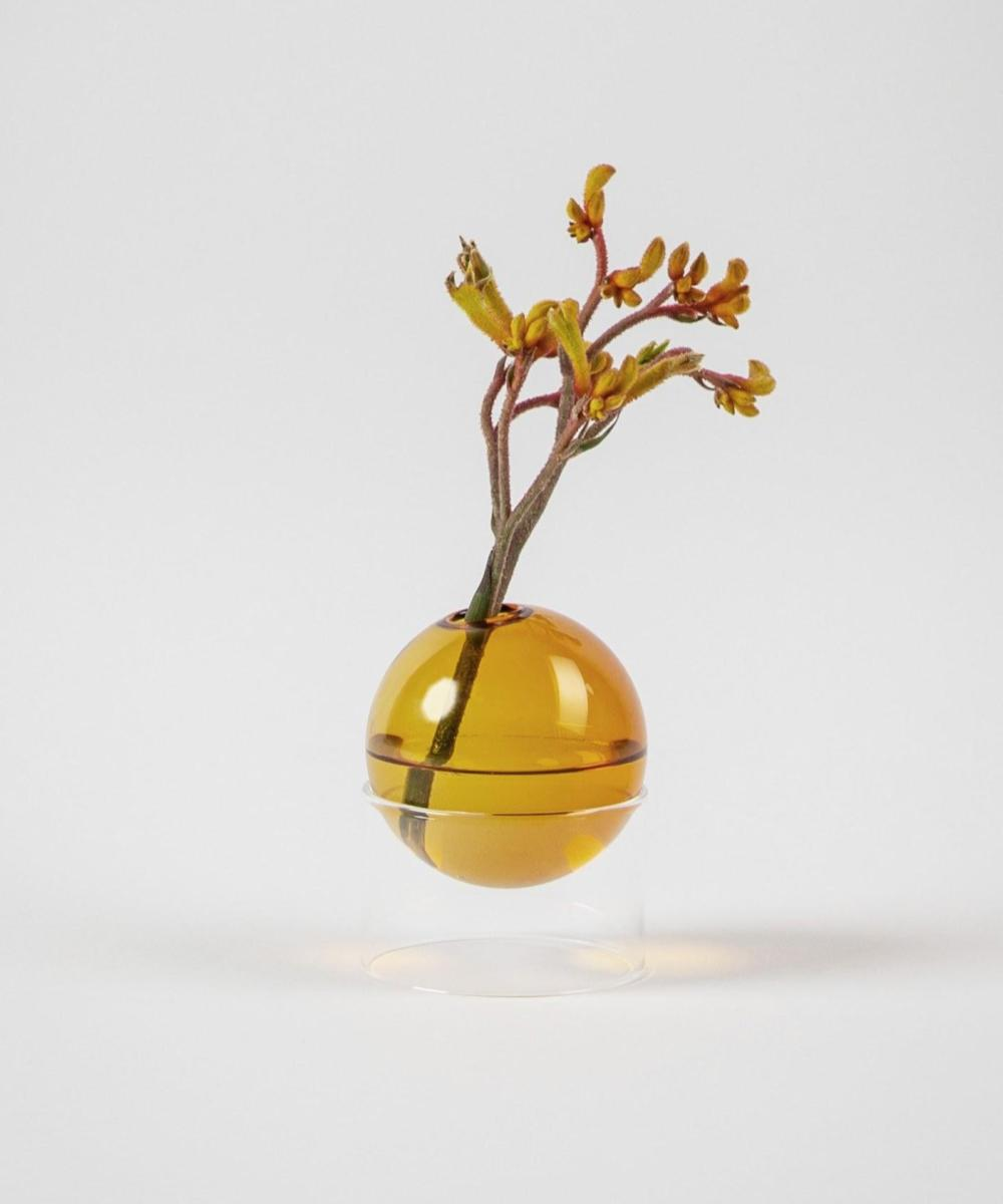 Flower Bubble Standing Amber