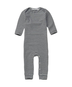 Mingo Baby Playsuit Stripes Black/White