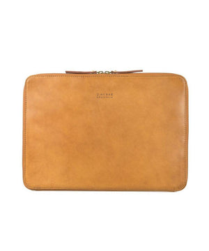 "O My Bag Zipper Laptop Sleeve 15"" Cognac"