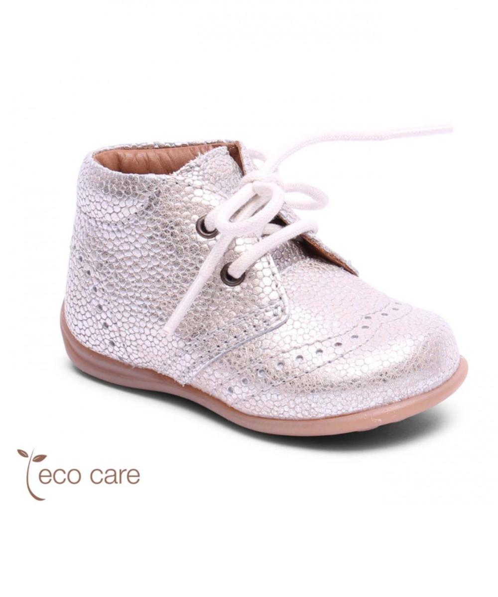 Bisgaard First Step Shoes Budapest Lace Silver