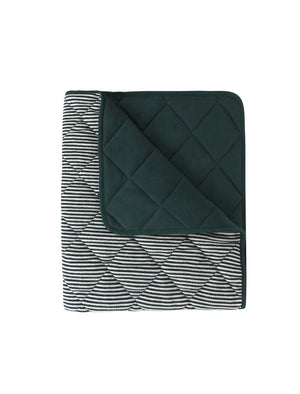 Paddy Organic Blanket Dark Green