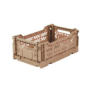 Folding Crate - Mini Warm Taupe
