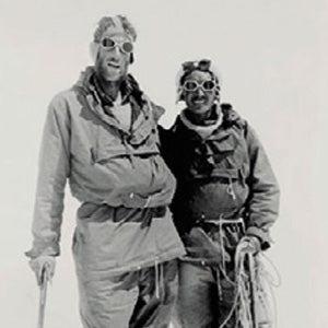 Sir Edmund Hillary and Tenzing Norgay become the first people to scale Mount Everest. Their food is cooked on a Primus stove.