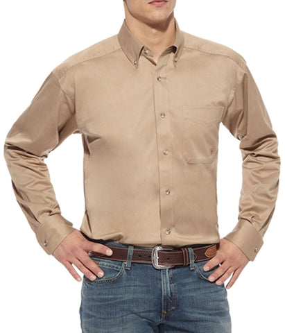 Ariat Men's Solid Khaki Shirt