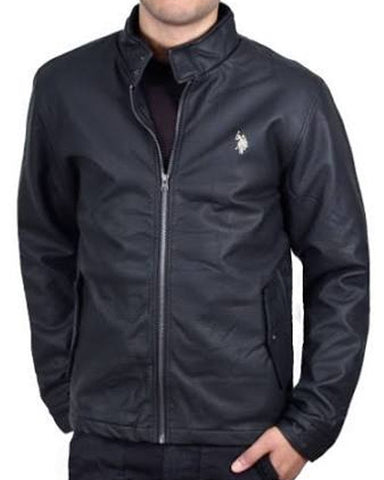 U.S. Polo ASSN. Faux Leather Barracuda Jacket Black