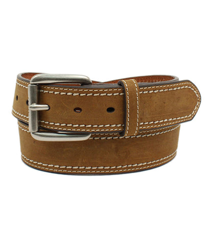 ARIAT® DOUBLE STITCHED BROWN BELT