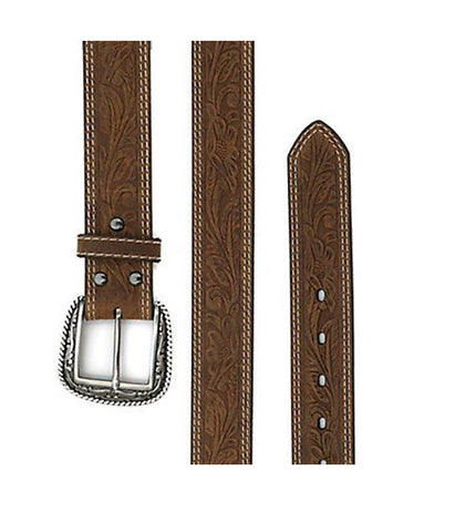 ARIAT® TOOLED DOUBLE STITCH BELT