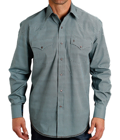 Stetson© Men's Brown Linked Circles Shirt