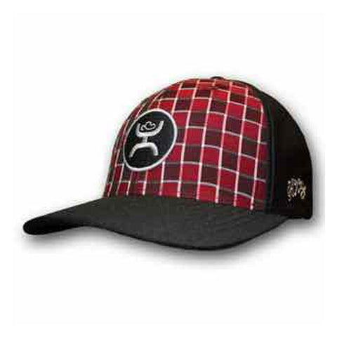 Men's Ohl Check Red Ball Cap by Hooey L/XL
