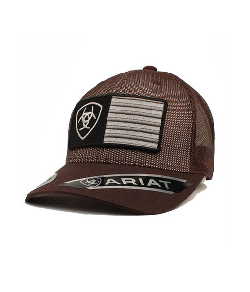 8c9aacea3 ARIAT® BROWN MESH TRUCKER CAP