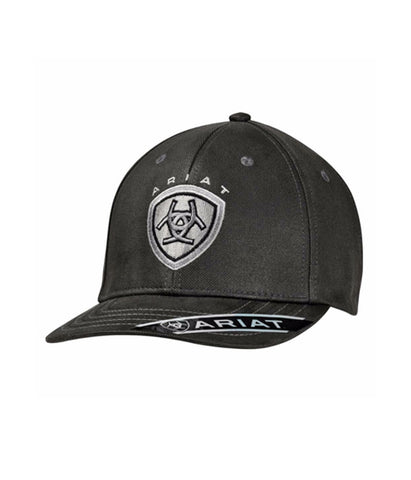 ARIAT® MENS BLACK LOGO CAP