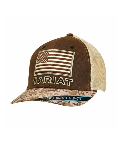 ARIAT® MENS BROWN TAN OILSKIN CAP