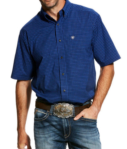Ariat® Men's Gansen Short Sleeve Stretch Perf Shirt