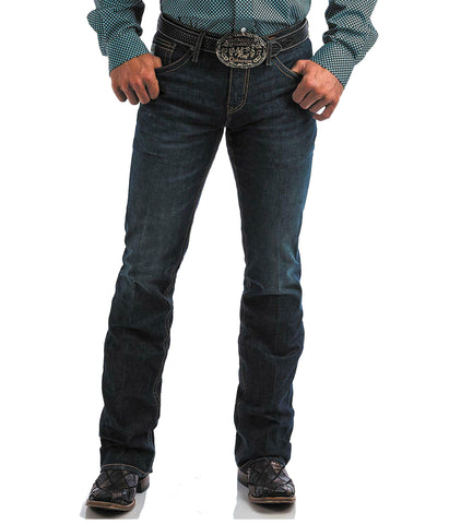 CINCH IAN MID RISE SLIM FIT BOOT CUT- DARK WASH