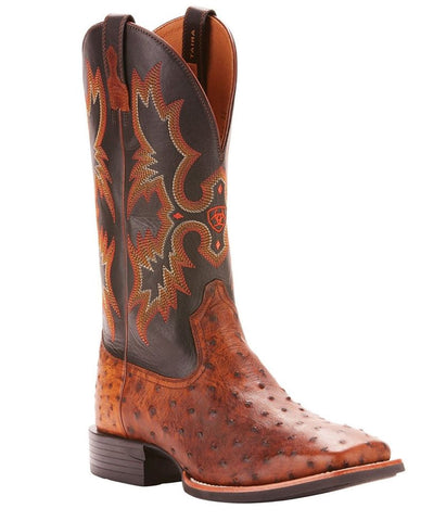 Ariat® Men's Quantum Classic Brown Full Quill Ostrich Boots