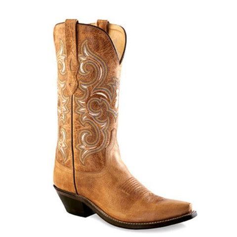 Old West Women's Rustic Snip Toe Western Boots