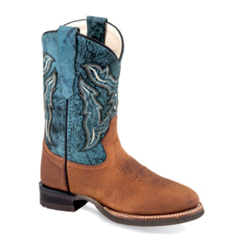 Old West Boys' Broad Round Toe Boot
