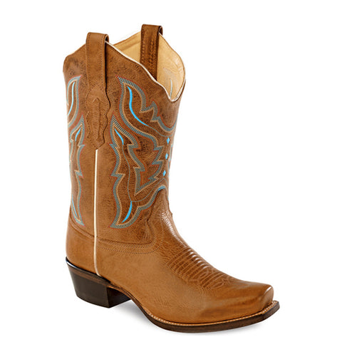 Old West Women's Embroidered Snip Toe Cowgirl Boots