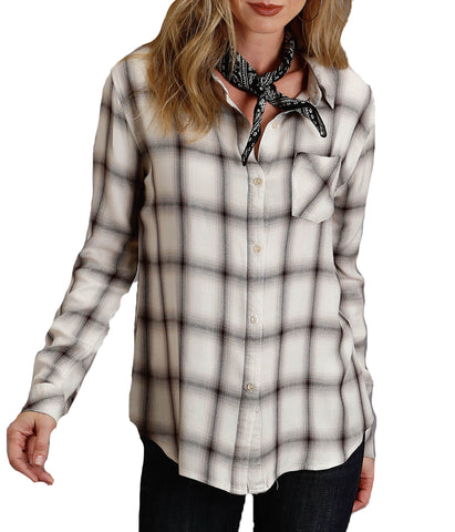 Stetson© Women's Ombre Plaid L/S Blouse