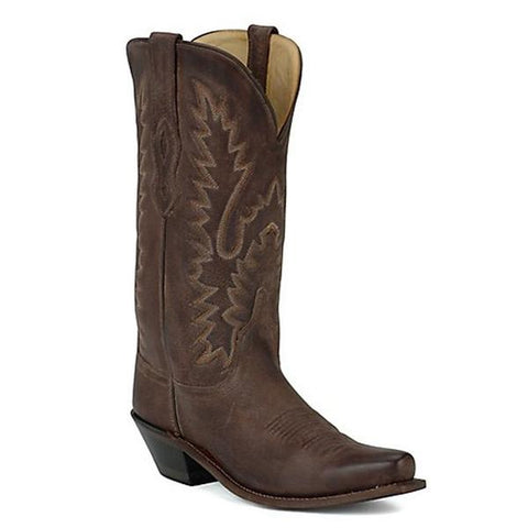 Old West Women's Classic Chocolate Mad Dog Snip Toe Western Boots