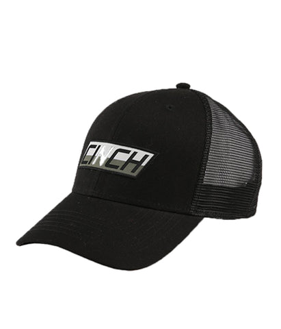 CINCH MENS LOGO TRUCKER CAP - BLACK