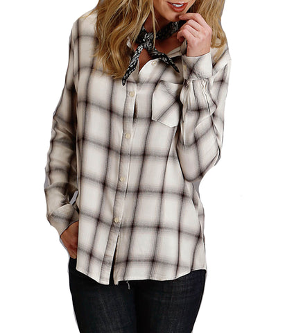Stetson Ombre Plaid L/S Blouse