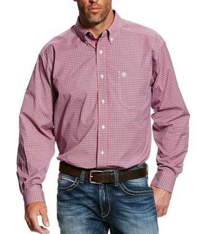 Ariat® Men's Gazeley Red Plaid Performance Shirt