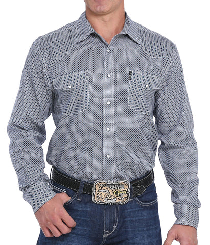 Cinch Men's Modern Geo Print Long Sleeve Western Shirt