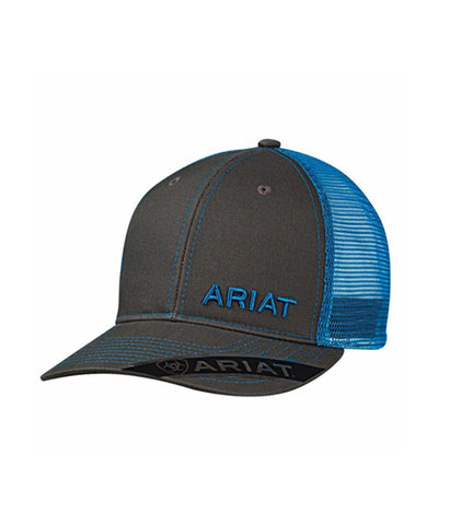ARIAT® MENS BROWN MESH TRUCKER CAP