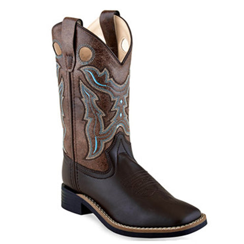 Old West Kids Square Toe Boots