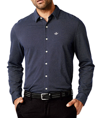 Dockers Men's 360 Ultimate Button Up Shirt - Deep Blue Night