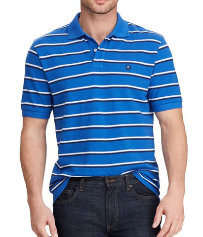 Chaps Mens Royal Heather Cotton Polo Short Sleeve Polo