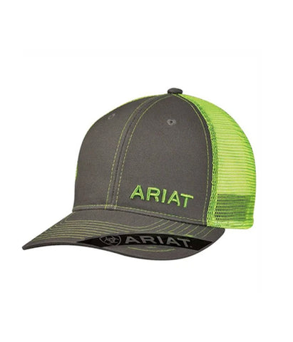 ARIAT® LIME GREEN & GREY MESH CAP
