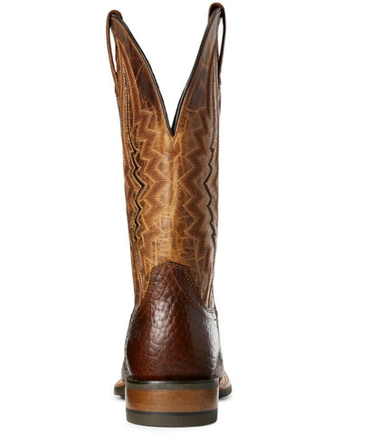 Ariat® Men's Short Round Brown & Wheat Boots