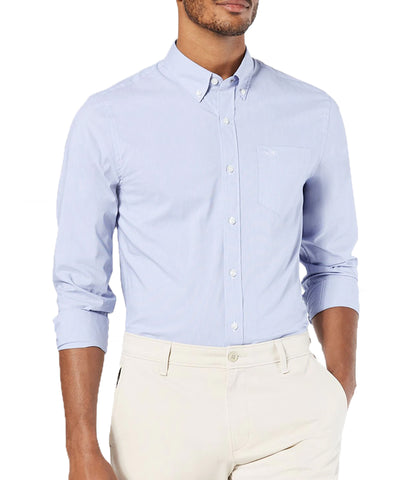 Dockers Men's Signature Comfort Flex Button Down Shirt - Blue