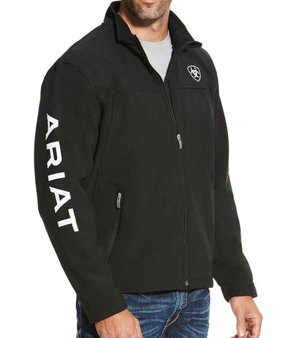 ARIAT® MEN'S NEW TEAM BLACK FULL-ZIP SOFTSHELL JACKET