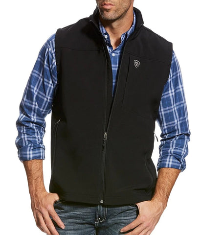ARIAT® MEN'S VERNON 2.0 SOFTSHELL VEST - BLACK