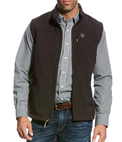 ARIAT® MEN'S VERNON 2.0 SOFTSHELL VEST - BROWN