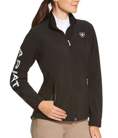 ARIAT® LADIES SOFTSHELL TEAM JACKET - BLACK