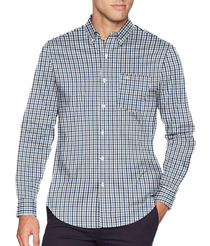 Dockers Men's Long Sleeve Button Front Comfort Flex Shirt - Pembroke Plaid