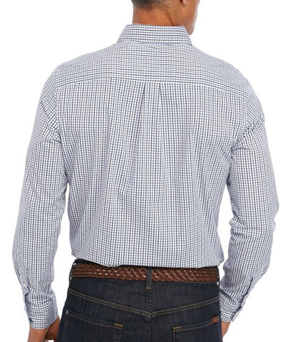Chaps Men's White Multi Long Sleeve Easy Care Plaid Shirt