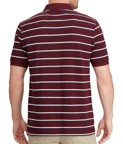 Chaps Mens Burgundy Heather Short Sleeve Cotton Polo Shirt