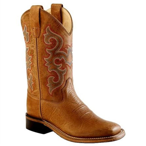 Old West Kids' Square Toe Western Boots