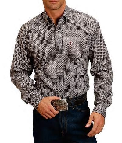 Stetson© Classic Long-Sleeve Shirt Men's L/S Snap Print Shirt