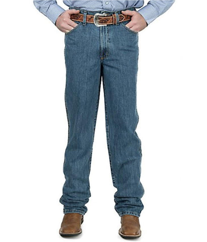 CINCH MEN'S BRONZE LABEL SLIM FIT JEANS - MEDIUM STONEWASH