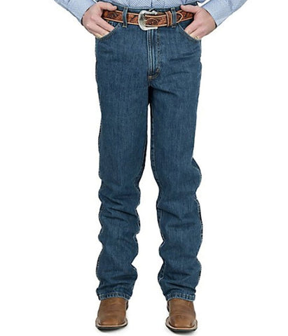 CINCH MEN'S BRONZE LABEL SLIM FIT JEANS - DARK STONEWASH