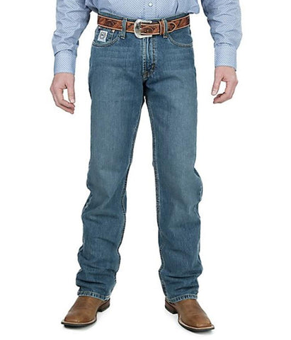CINCH MEN'S WHITE LABEL RELAXED FIT JEAN - MEDIUM STONEWASH