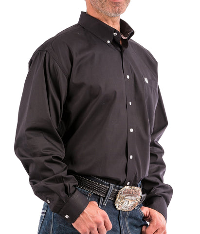 Cinch Men's Solid Black Button-Down Western Shirt